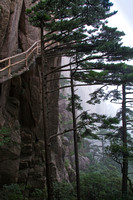 Huangshan in mist and clouds.