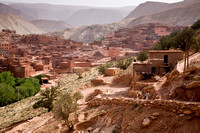 Morocco, Atlas Mountains: A prosperous village