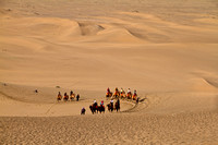 Happy tourists on the Silk Road