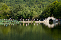 Hongcun village: famous bridge (featured in Ang Lee's Crouching Tiger, Hidden Dragon)