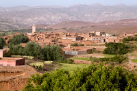 Morocco, Atlas Mountains: View from our guesthouse in Teluet