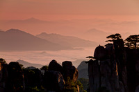 China, Huangshan: sunrise