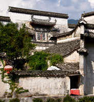 Hongcun village: roofs