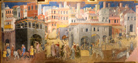 Siena, fresco in the town hall.